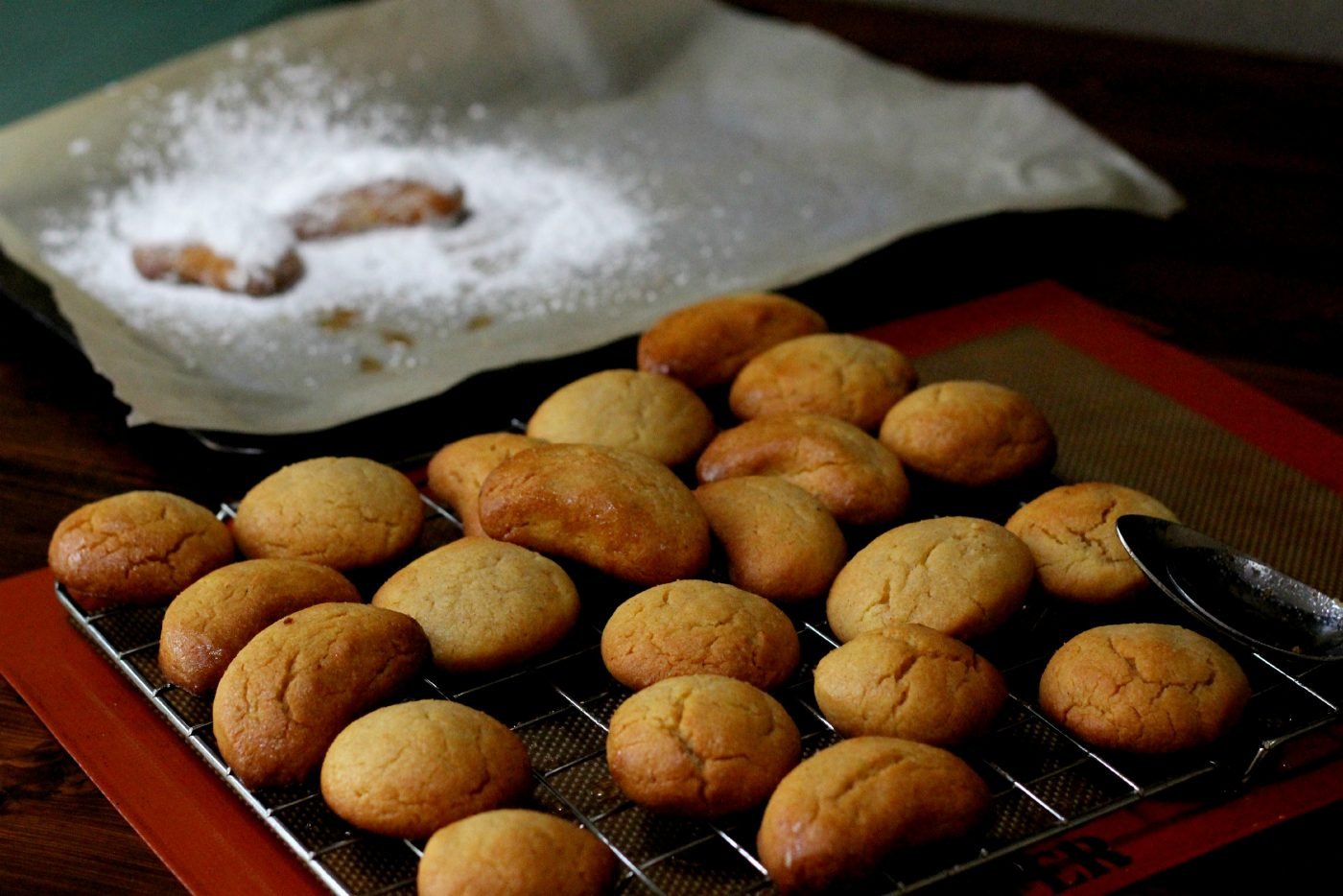 , Greek biscuits with olive oil and honey