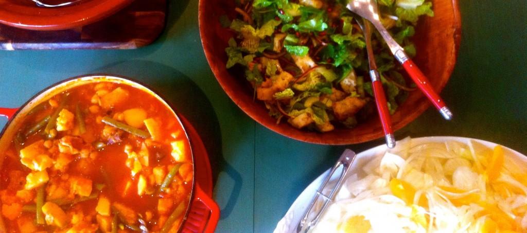 Vegetarian Tagine served with Fennel and Orange Salad