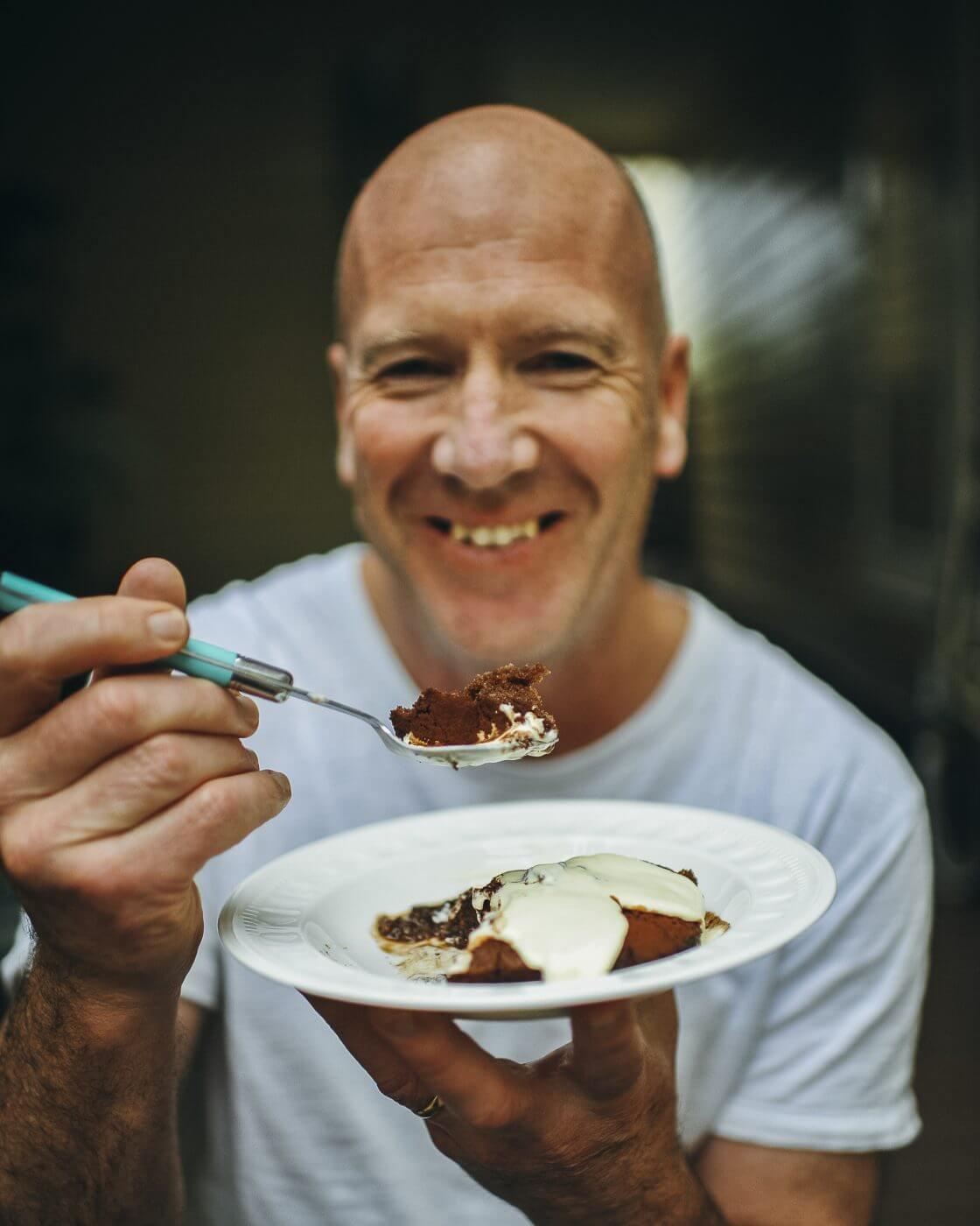 , Self saucing chocolate pudding recipe and a beautiful husband