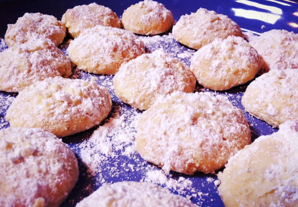 , Almond butter biscuits – the perfect food for a cold (I am told)