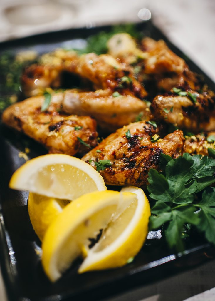 , Honey and lemon chicken wings
