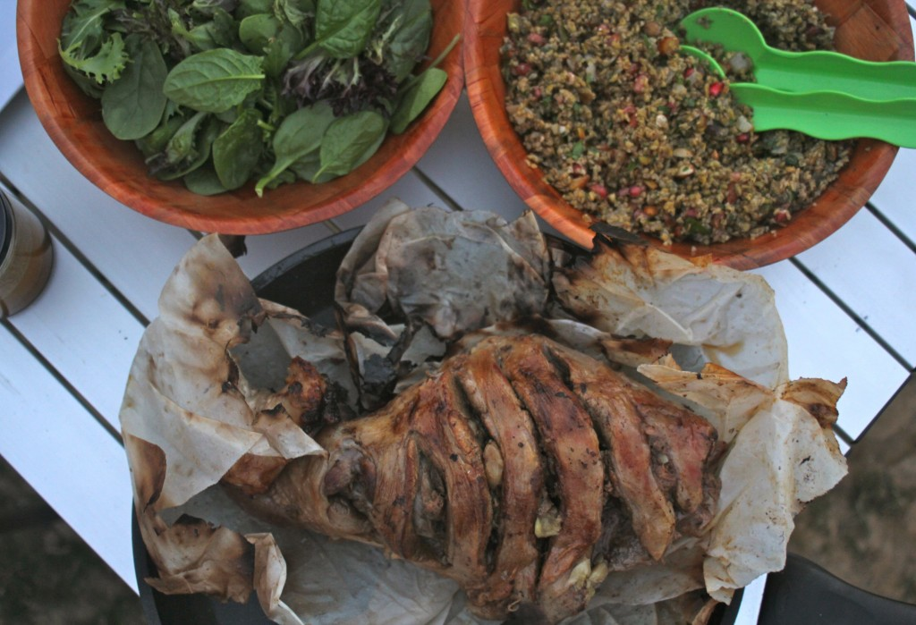 , Camping holiday and a great 7 hour roast lamb recipe