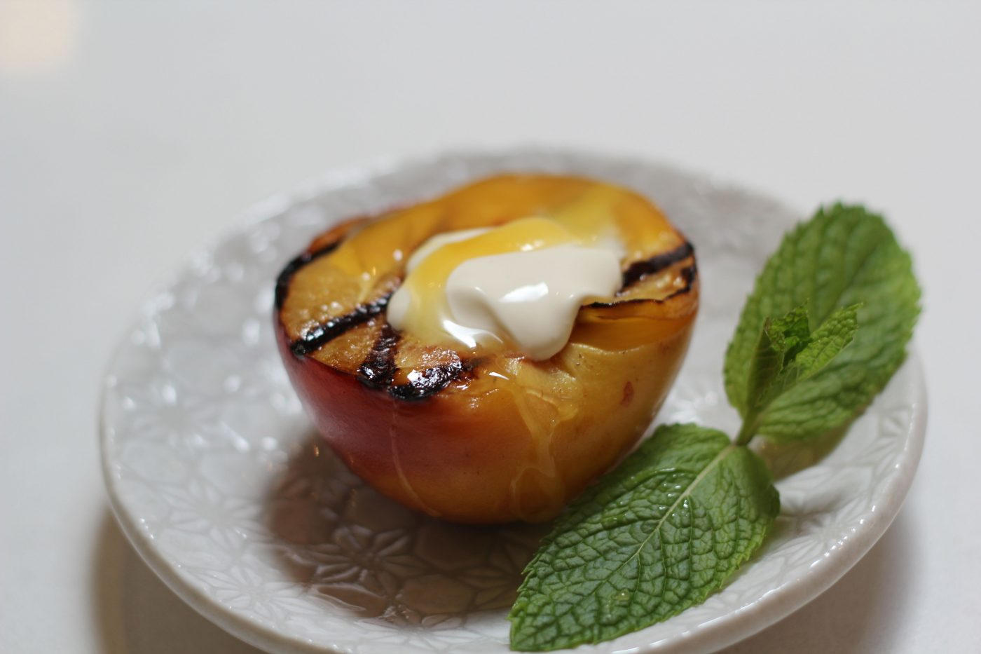 , Everything's just peachy : Barbecue peaches recipe