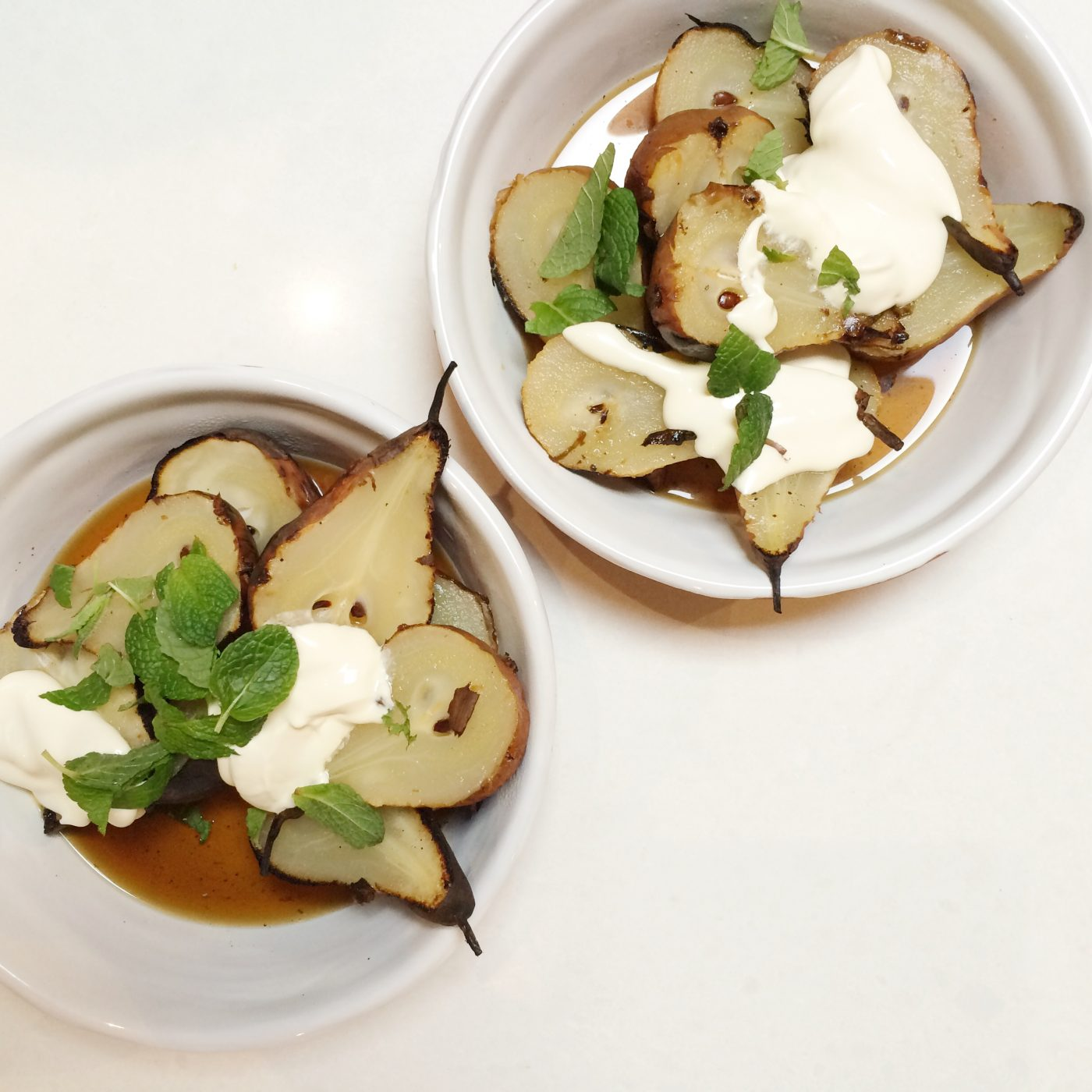 , Barbecued pears recipe and great tips for cooking on the barbecue