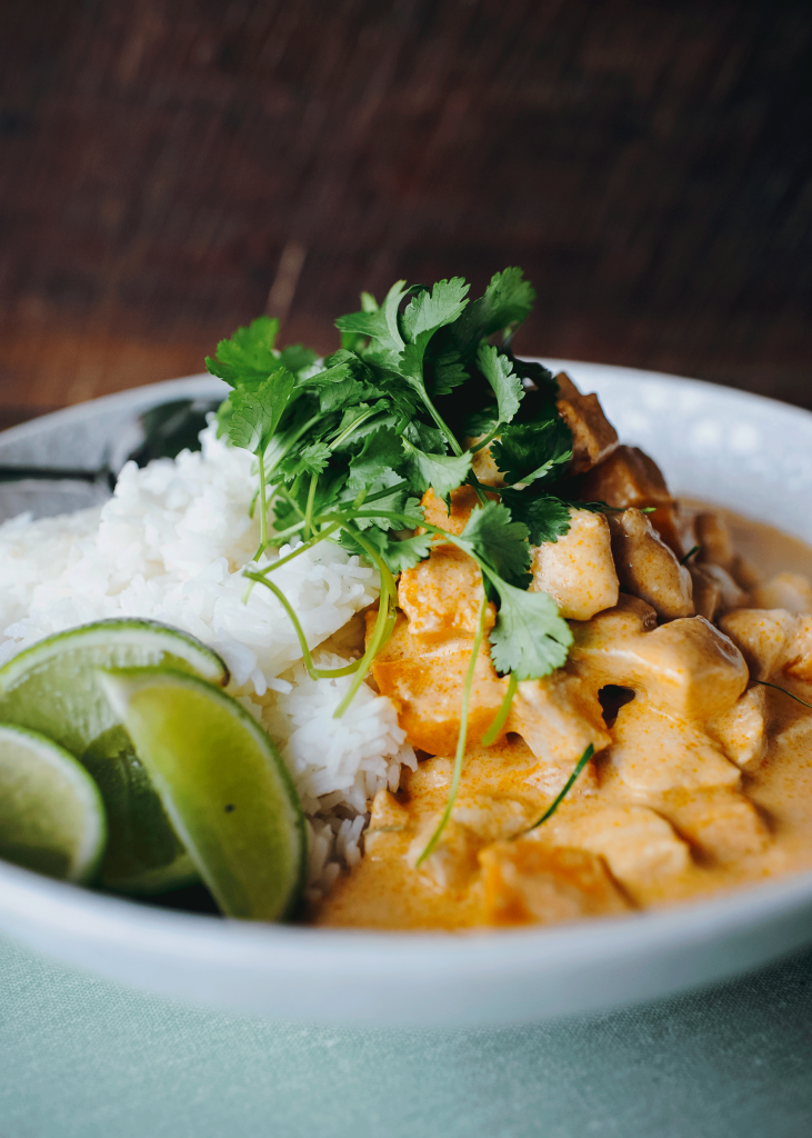 Simple chicken and pumpkin curry