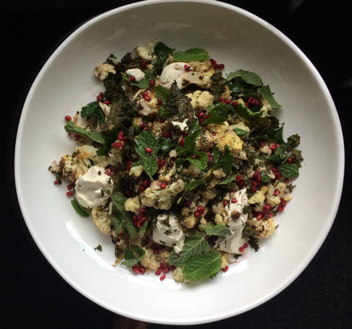 , Warm cauliflower and sumac salad
