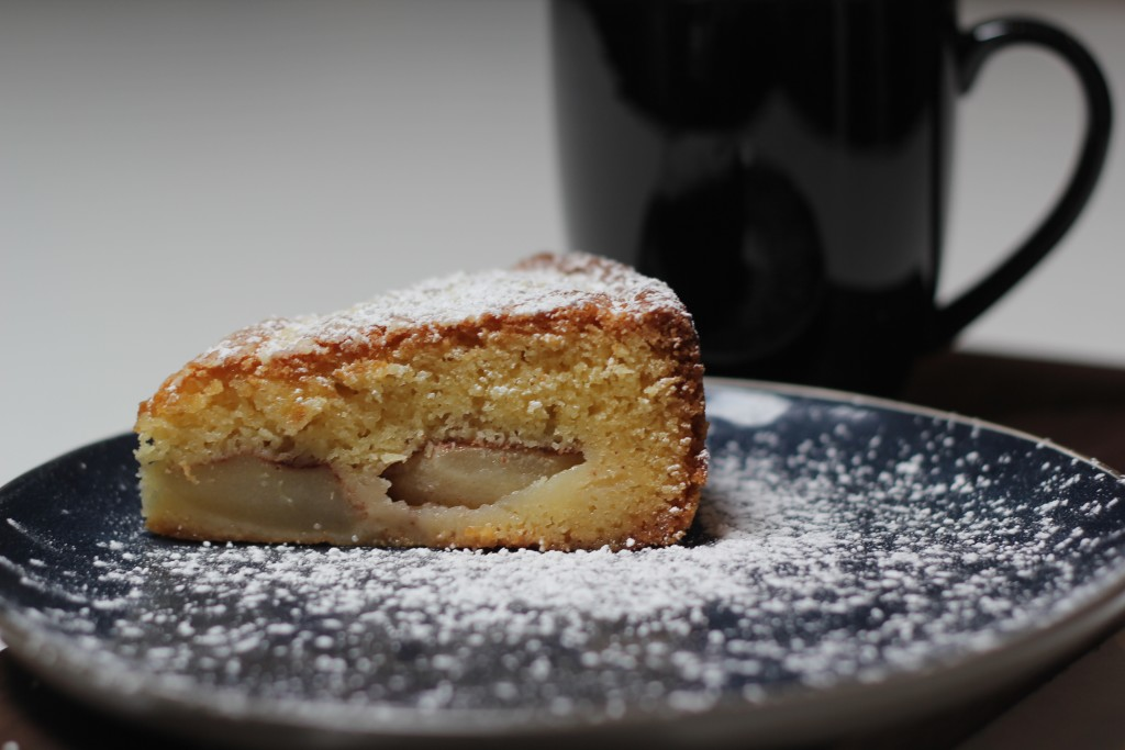 Italy inspired plum and pear cake
