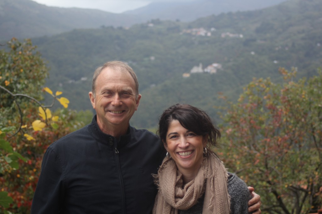 Lunch at Azienda Agrituristica Risveglio Naturale- lovely Laurie & me