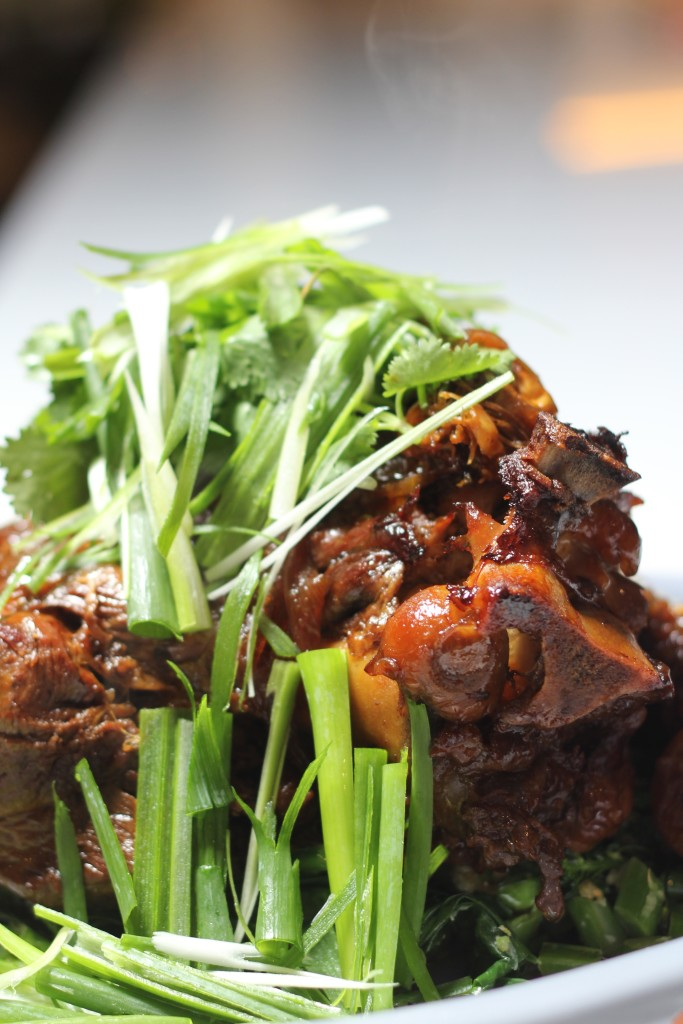Slow cooked Asian style sticky lamb