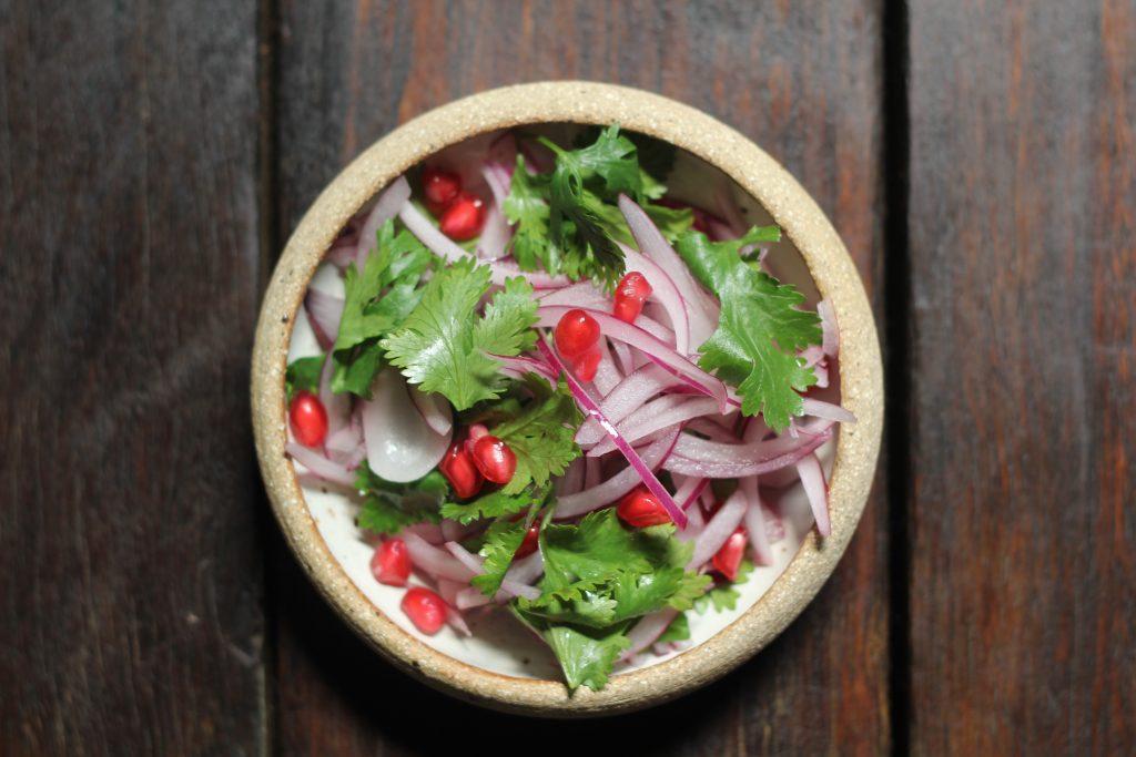 Vegetarian curry night, Vegetarian curry night : Cauliflower and lentil curry   Cucumber raita   Pomegranate & onion salad