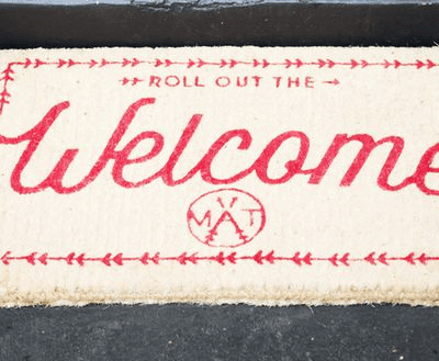 Door mat Roll out the Welcome mat (Down to the woods)