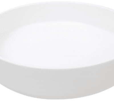 Sienna Shallow Bowl White Matte