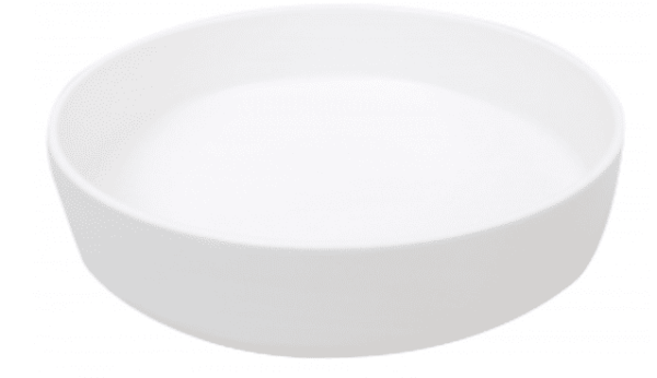Sienna Shallow Bowl White Matte