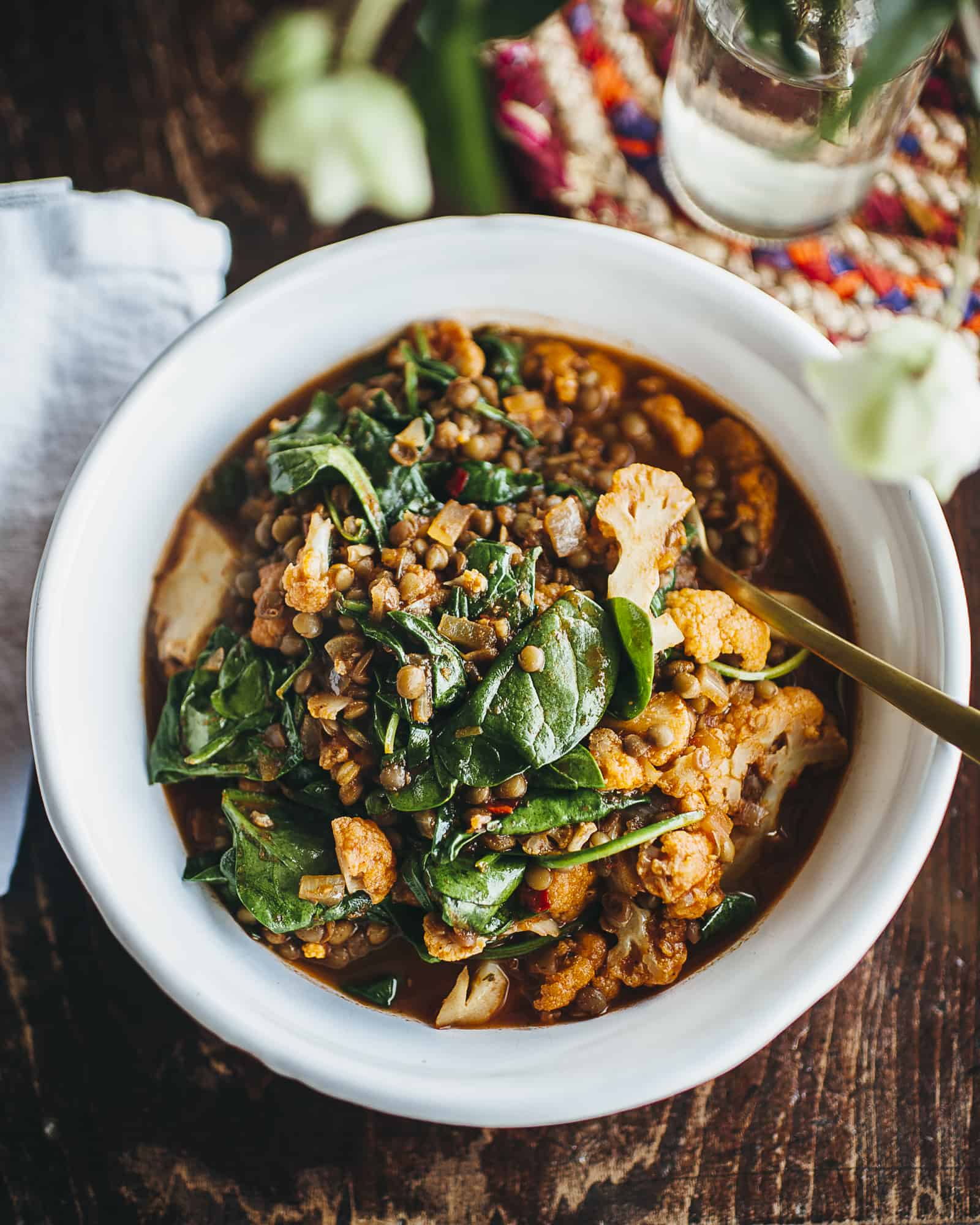 , Lentil and cauliflower curry and a bit of a 'suck-y' week