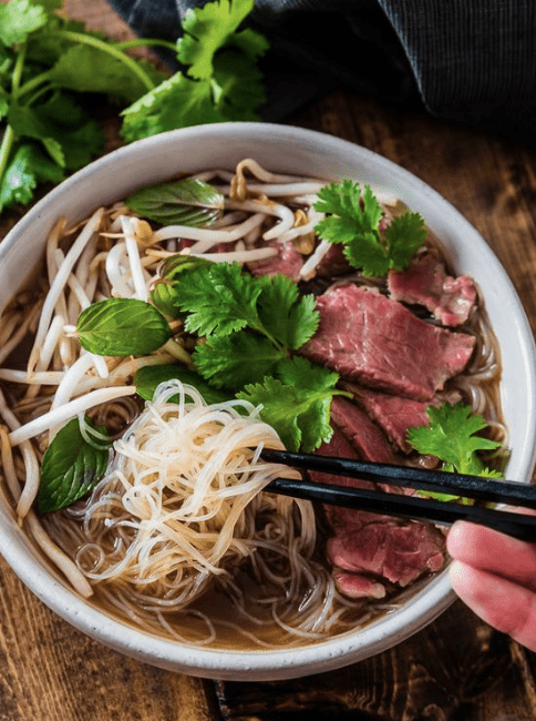 Vietnamese beef Phở and famous street food