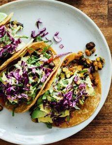 Vegan cooking class tempeh taco