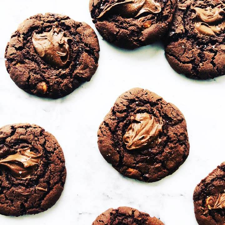 , Nuts for Nutella cookies