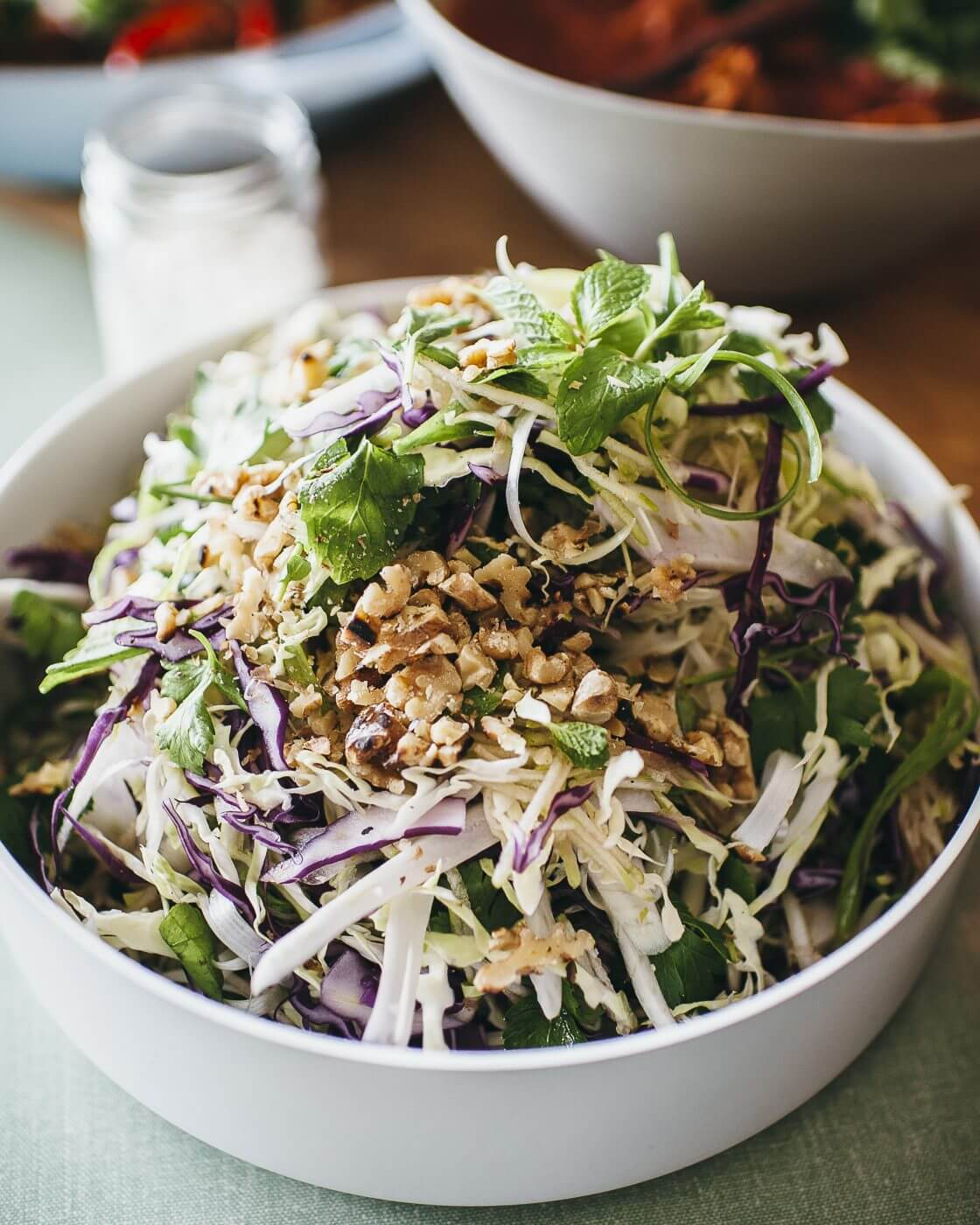 , Raw cabbage, fennel & apple salad