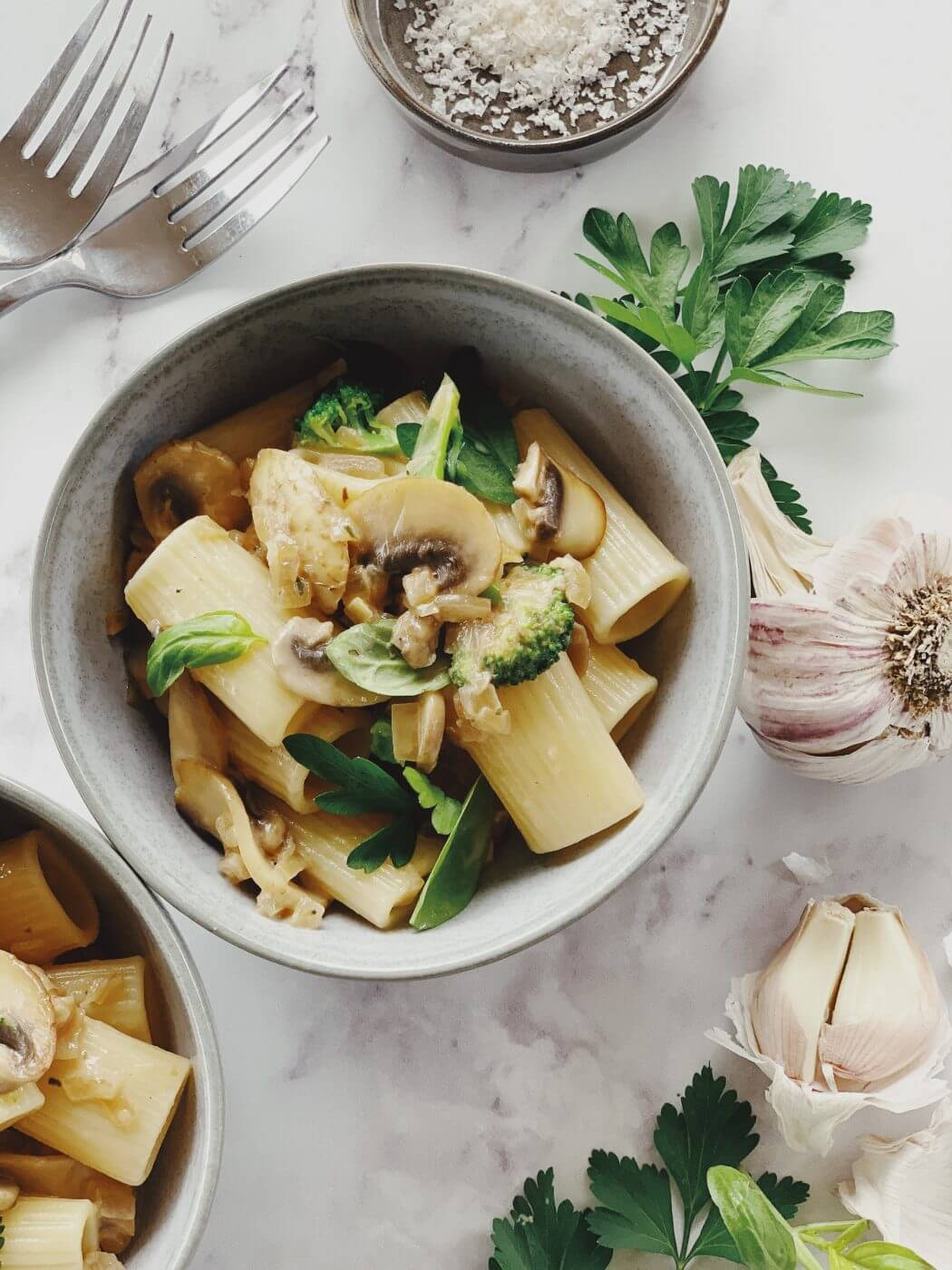 , Mushroom and Broccoli Pasta