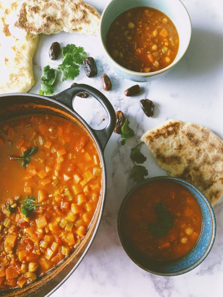 , A rather tasty vegetarian harira soup