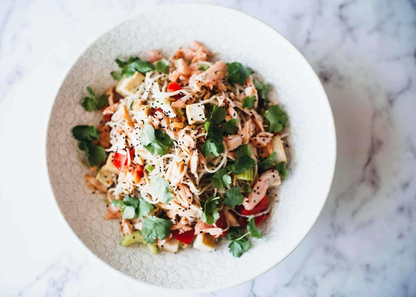 , Soba noodle salad