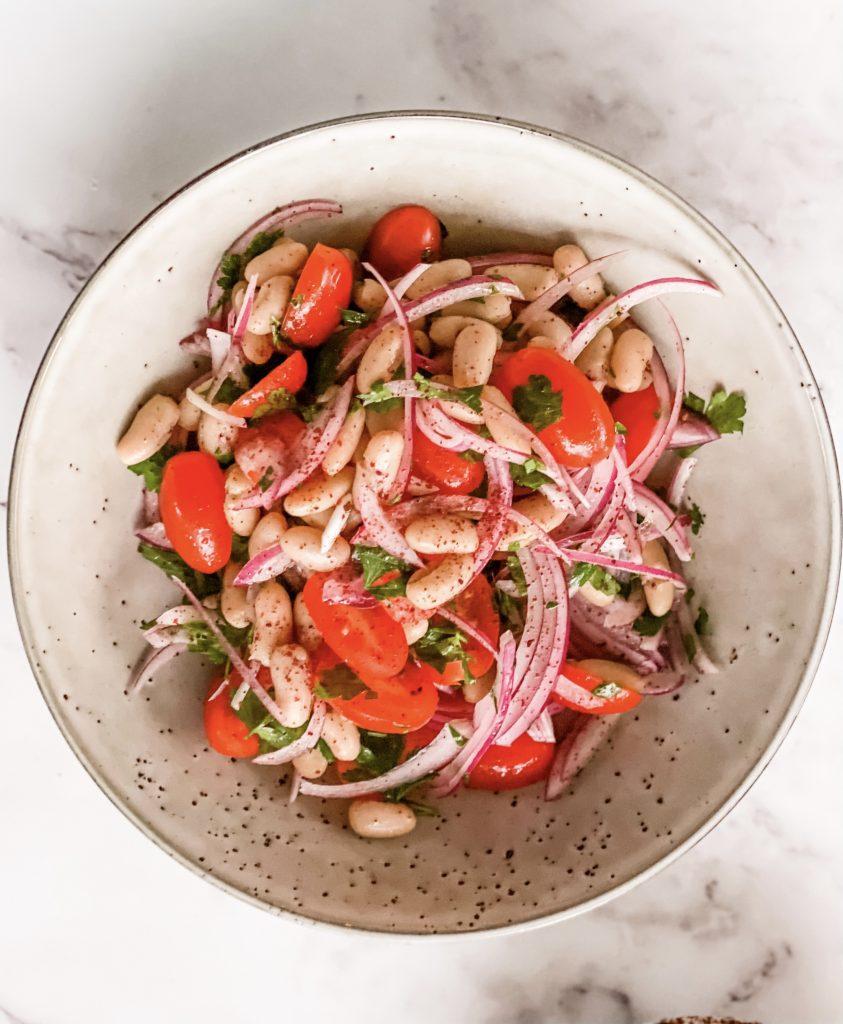 Turkish white bean salad recipe for you (Piyaz salad), Turkish white bean salad recipe for you (Piyaz salad)