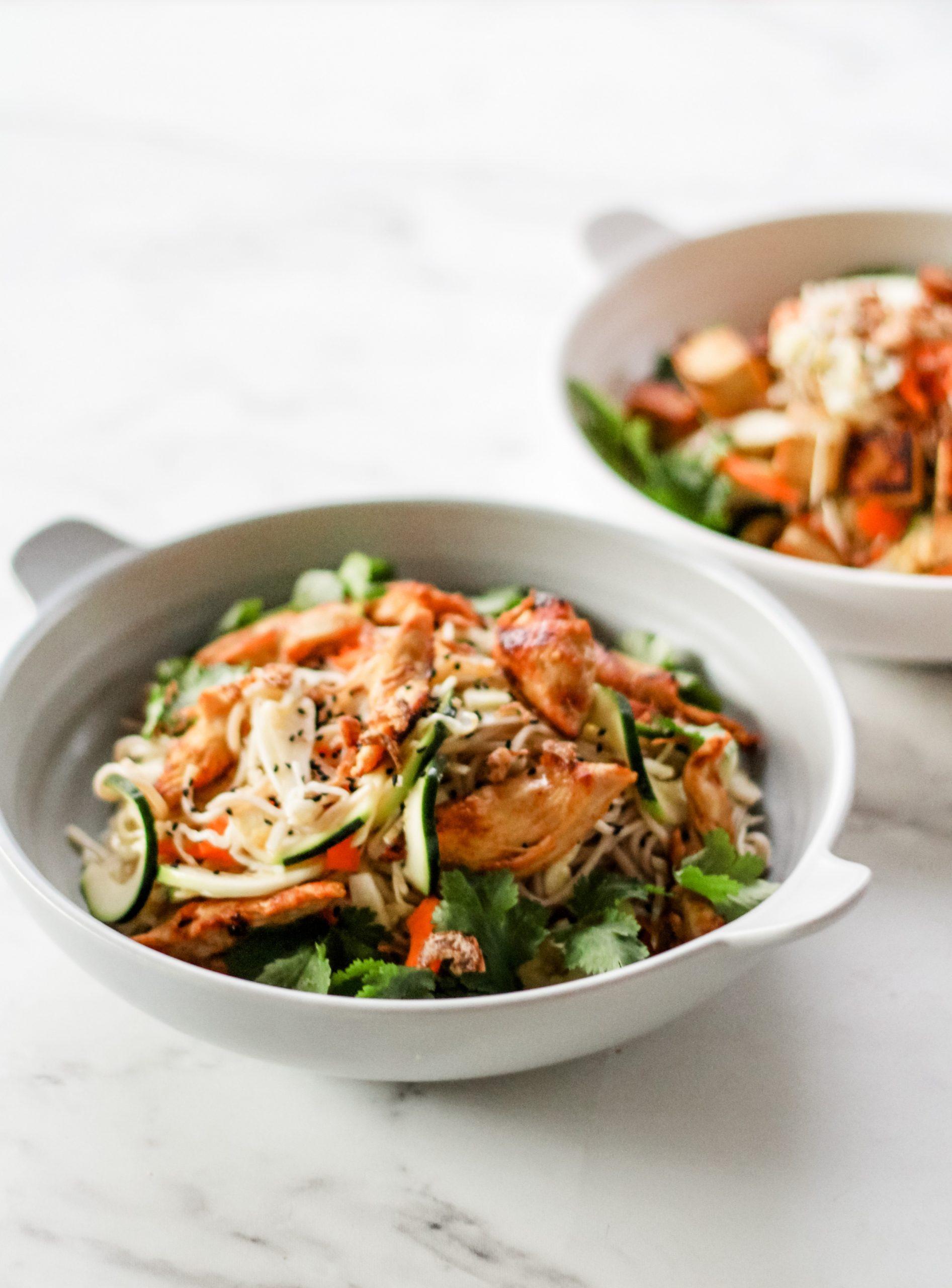 Versatile sesame soba noodles for vegetarians and meat-eaters, Versatile sesame soba noodles for vegetarians and meat-eaters