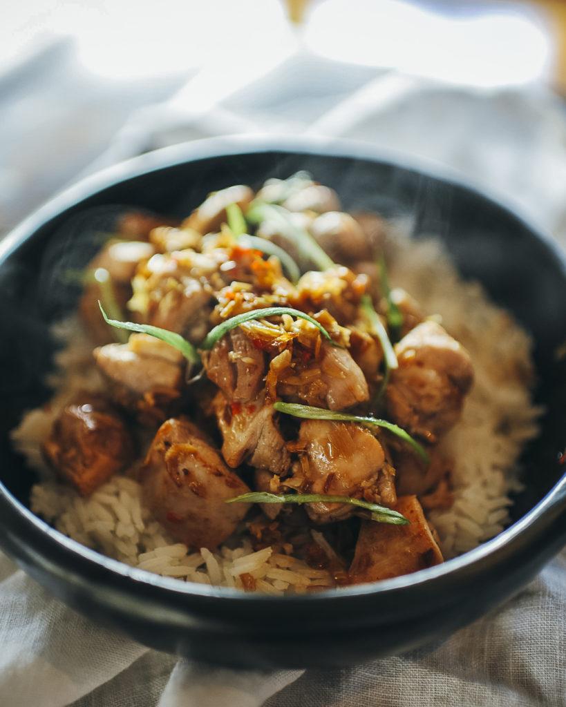 , Lemongrass and chicken stir-fry