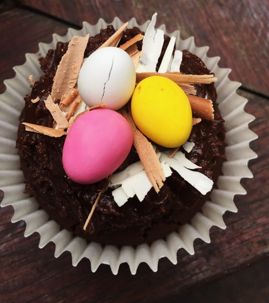 , Catherine's Easter chocolate cupcakes with Easter nest