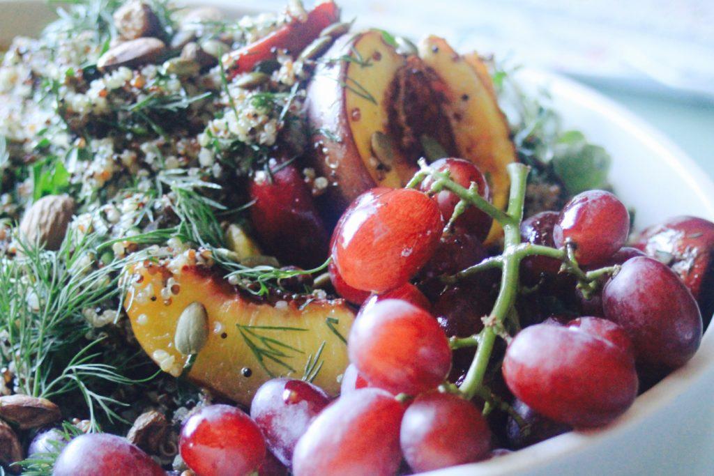 , How to make a pretty stone fruit salad